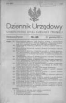 Dziennik Urzędowy Ministerstwa Byłej Dzielnicy Pruskiej 1920.12.27 R.1 Nr80
