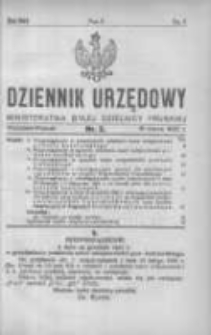 Dziennik Urzędowy Ministerstwa Byłej Dzielnicy Pruskiej 1922.03.15 R.3 Nr2