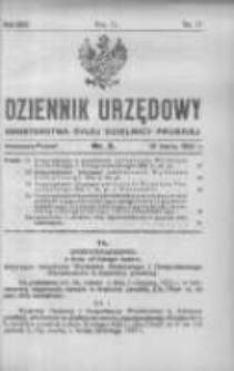 Dziennik Urzędowy Ministerstwa Byłej Dzielnicy Pruskiej 1922.03.16 R.3 Nr3