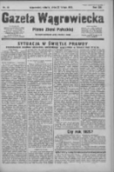Gazeta Wągrowiecka: pismo ziemi pałuckiej 1933.02.25 R.13 Nr46