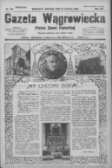Gazeta Wągrowiecka: pismo ziemi pałuckiej 1933.06.25 R.13 Nr144