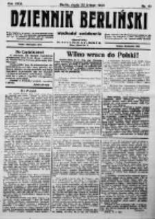 Dziennik Berliński. 1922 R.26 nr40