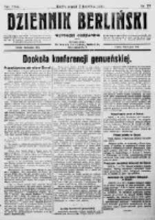 Dziennik Berliński. 1922 R.26 nr77