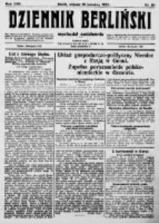 Dziennik Berliński. 1922 R.26 nr84
