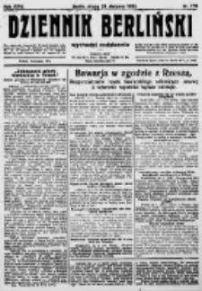 Dziennik Berliński. 1922 R.26 nr176