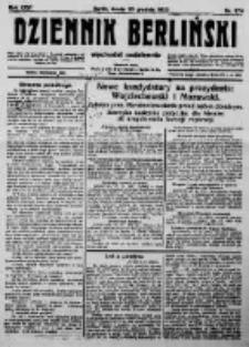 Dziennik Berliński. 1922 R.26 nr274