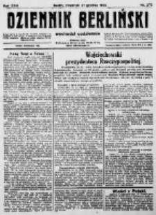 Dziennik Berliński. 1922 R.26 nr275
