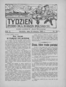 """Tydzień: pismo dla rodzin polskich: dodatek niedzielny do """"Gazety Szamotulskiej"""" 1935.08.18 R.10 Nr31"""