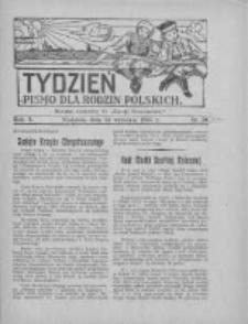 """Tydzień: pismo dla rodzin polskich: dodatek niedzielny do """"Gazety Szamotulskiej"""" 1935.09.15 R.10 Nr35"""