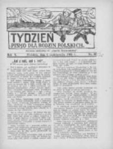 """Tydzień: pismo dla rodzin polskich: dodatek niedzielny do """"Gazety Szamotulskiej"""" 1935.10.06 R.10 Nr38"""