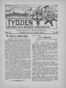"""Tydzień: pismo dla rodzin polskich: dodatek niedzielny do """"Gazety Szamotulskiej"""" 1935.12.22 R.10 Nr49"""