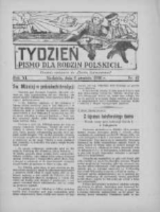 """Tydzień: pismo dla rodzin polskich: dodatek niedzielny do """"Gazety Szamotulskiej"""" 1936.12.06 R.11 Nr47"""