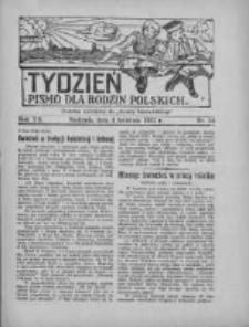 """Tydzień: pismo dla rodzin polskich: dodatek niedzielny do """"Gazety Szamotulskiej"""" 1937.04.04 R.12 Nr14"""