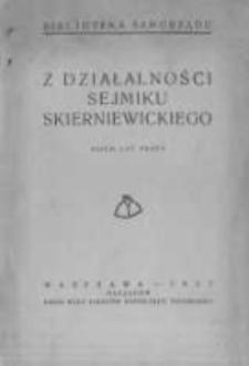 Z działalności Sejmiku Skierniewickiego