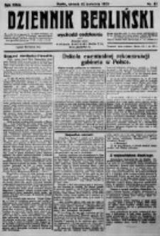 Dziennik Berliński. 1923 R.27 nr81
