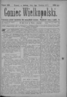 Goniec Wielkopolski: najtańsze pismo codzienne dla wszystkich stanów 1877.12.01 Nr229