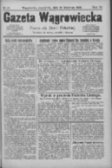 Gazeta Wągrowiecka: pismo dla ziemi pałuckiej 1926.04.22 R.6 Nr47