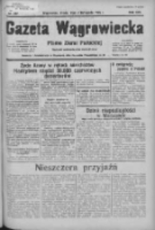 Gazeta Wągrowiecka: pismo ziemi pałuckiej 1936.11.04 R.16 Nr257