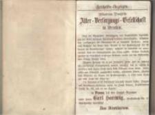 Posener Wohnungs-Anzeiger auf das Jahr 1862. Aus amtlichen Materialien zusammengestellt