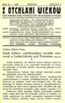 Z Otchłani Wieków. 1929 R.4 z.4