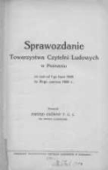 Sprawozdanie Towarzystwa Czytelni Ludowych w Poznaniu za czas od 1-go lipca 1928r. do 30-go czerwca 1929r.
