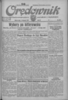 Orędownik: ilustrowane pismo narodowe i katolickie 1933.11.14 R.63 Nr262