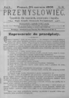 Przemysłowiec. 1905.06.24 R.2 nr39