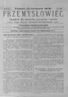 Przemysłowiec. 1905.11.18 R.2 nr60