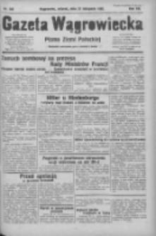 Gazeta Wągrowiecka: pismo ziemi pałuckiej 1932.11.22 R.12 Nr269