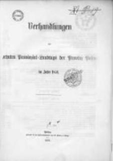 Verhandlungen des zehnten Provinzial-Landtages der Provinz Posen im Jahre 1854