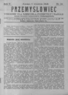 Przemysłowiec. 1908.09.05 R.5 nr36