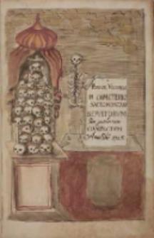 Breve Volumen in Caemeterio Sacromontano sepultorum post pestilentiam Compactum. Anno Domini 1715