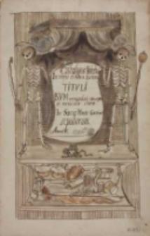 Cathalogus Nobilium In veteri et nova Ecclesia Tituli Beatae Virginis Mariae Immaculate Conceptae et miraculis clarae In Sacro Monte Gostinensi sepultorum. Anno Domini 1716
