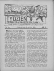 """Tydzień: pismo dla rodzin polskich: dodatek niedzielny do """"Gazety Szamotulskiej"""" i """"Gazety Międzychodzkiej"""" 1926.06.20 R.2 Nr25"""