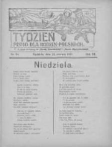 """Tydzień: pismo dla rodzin polskich: dodatek niedzielny do """"Gazety Szamotulskiej"""" i """"Gazety Międzychodzkiej"""" 1927.06.19 R.3 Nr24"""