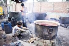 Fabryka słynnych tkanin (Indie)