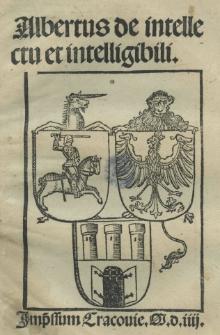 Albertus De intellectu et intelligibili