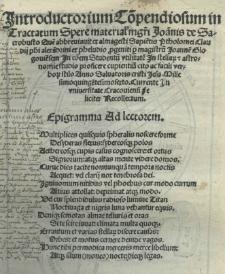 Introductorium co[m]pendiosum in Tractatum spere material[is] [...] Joa[n]nis de Sacrobusto que[m] abbreviavit ex Almagesti [...] Ptholomei Claudii [...] p[er] magistru[m] Joanne[m] Glogovie[n]sem [...] recollectum