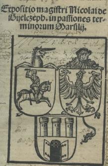 Expositio magistri Nicolai de Gijelczeph in passiones terminorum Marsilij