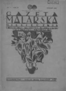 Gazeta Malarska: miesięcznik poświęcony malarstwu dekoracyjnemu, lakiernictwu i pozłotnictwu: organ Związku Cechów Malarskich i Lakierniczych 1930 styczeń R.3 Nr1