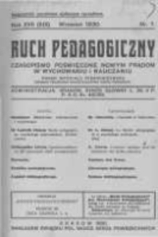 Ruch Pedagogiczny. 1930 R.17(19) nr7