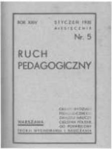 Ruch Pedagogiczny. 1934-1935 R.24 nr5