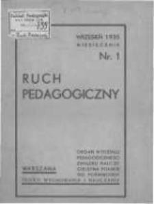 Ruch Pedagogiczny. 1935-1936 R.25 nr1