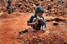 Boys in a brick breaking