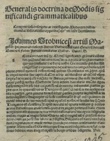 Generalis doctrina de modis significandi grammaticalibus