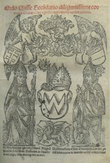 Ordo misse secundario diligentissime correctus cum notabilibus et glossis sacri canonis noviter additis