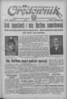 Orędownik: ilustrowane pismo narodowe i katolickie 1934.10.11 R.64 Nr232