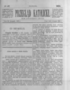 Przegląd Katolicki. 1884.11.20 R.22 nr47
