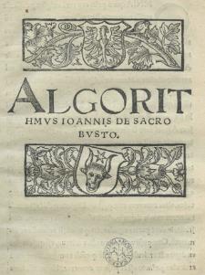 Algorithmus Ioannis de Sacrobusto