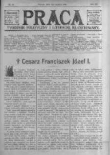 Praca: tygodnik polityczny i literacki, illustrowany. 1916.12.03 R.20 nr49